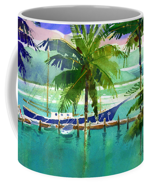 Harbor Coffee Mug featuring the painting Hamilton Harbour by Lee Klingenberg