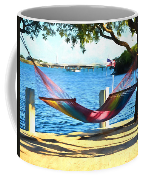 Parmer's Coffee Mug featuring the photograph Hammock Time In The Keys by Ginger Wakem