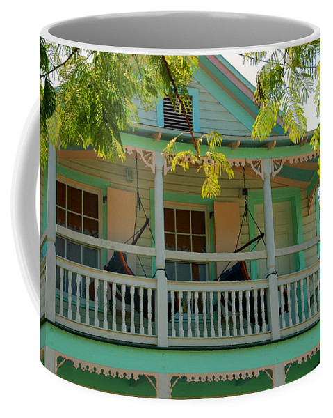 Hammocks Coffee Mug featuring the photograph Hammocks In Paradise by Susanne Van Hulst