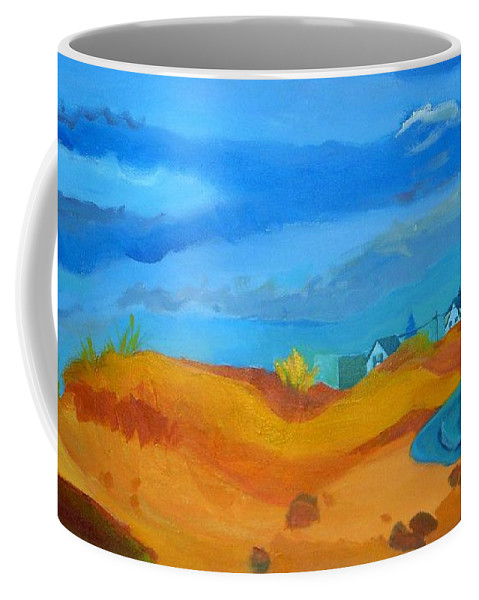 Ocean Coffee Mug featuring the painting Hampton Dunes by Debra Bretton Robinson