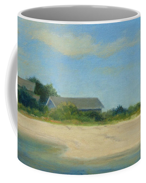 Landscape Coffee Mug featuring the painting Hamptons Beach House by Phyllis Tarlow