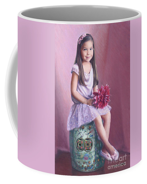 Hana Coffee Mug featuring the painting Hana by Candace Lovely