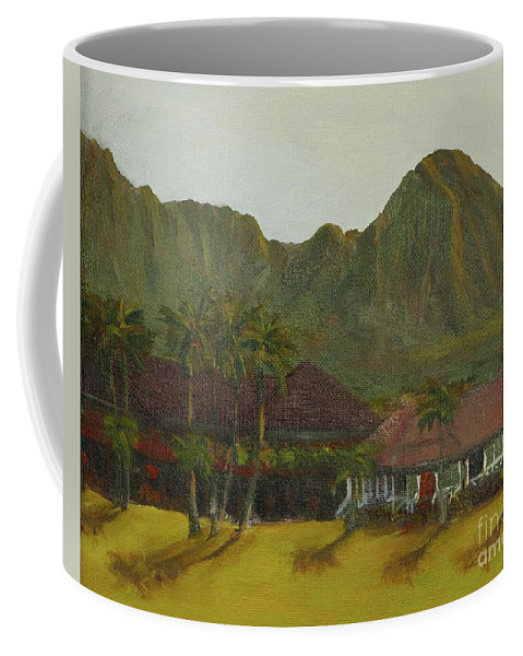 Hanalei Coffee Mug featuring the painting Hanalei by Laura Toth