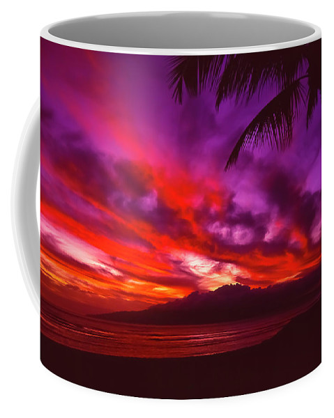 Landscapes Coffee Mug featuring the photograph Hand of Fire by Jim Cazel
