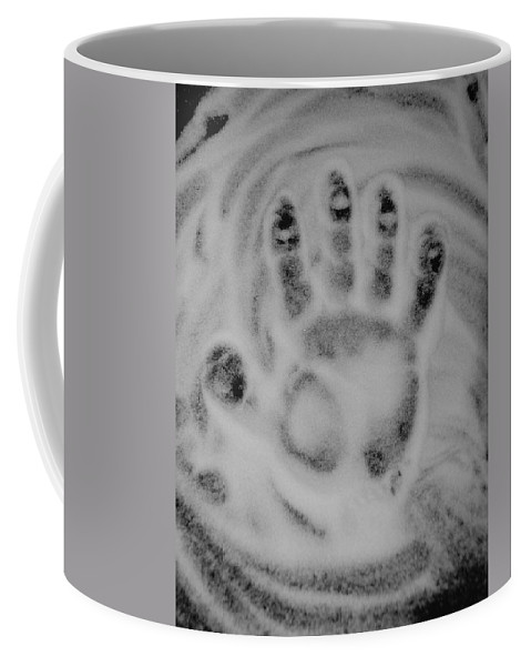 Black And White Coffee Mug featuring the photograph Hand by Rob Hans