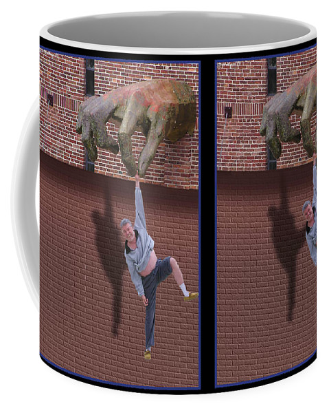 3d Coffee Mug featuring the photograph Handout - Gently cross your eyes and focus on the middle image by Brian Wallace