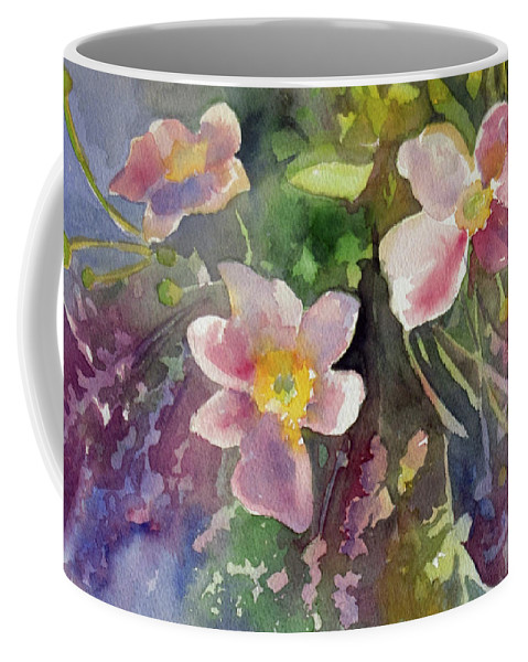 Flowers Coffee Mug featuring the painting Handpicked Farmers Bouquet by Elissa Poma