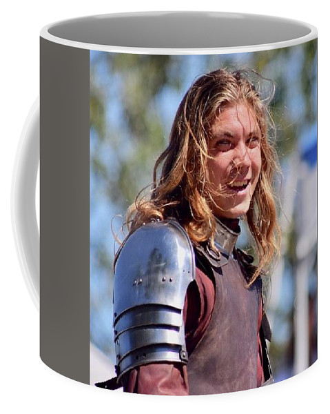 Horse Coffee Mug featuring the photograph Handsome Knight by Debra K Gallagher