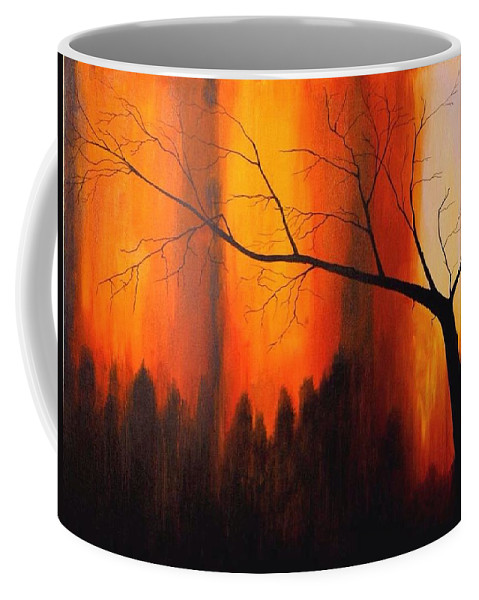 Terry Boling Coffee Mug featuring the painting Hang In There by Terry Boling