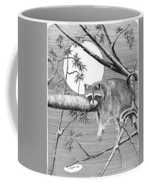 Wildlife Coffee Mug featuring the drawing Hangin' Around by Lawrence Tripoli