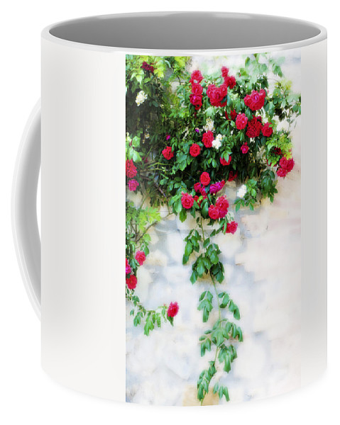 Hang Coffee Mug featuring the photograph Hangin Roses by Marilyn Hunt