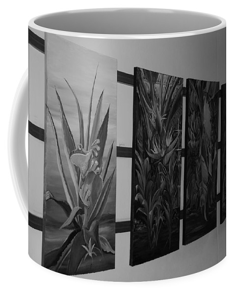 Black And White Coffee Mug featuring the photograph Hanging Art by Rob Hans