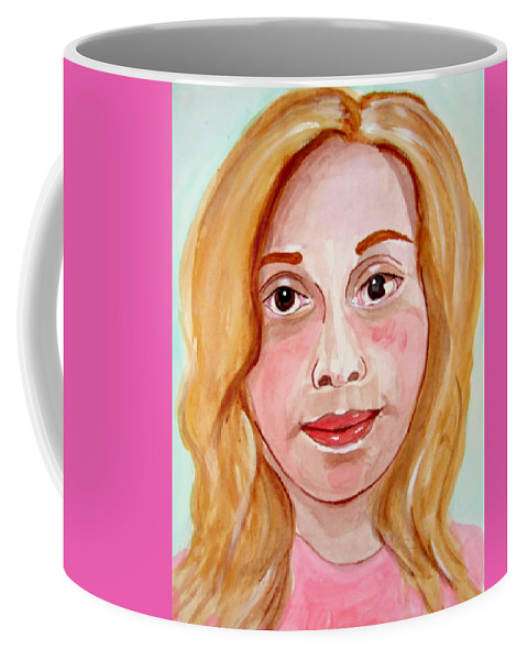 Granddaughter Coffee Mug featuring the painting Hanna Ma Petite Fille by Rusty Gladdish