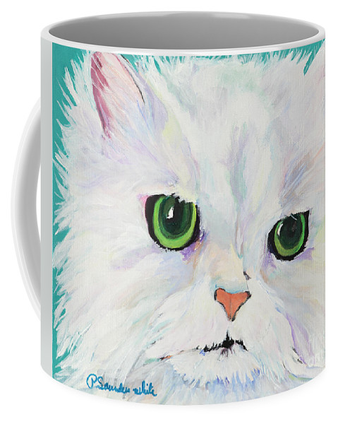 Acrylic Coffee Mug featuring the painting Hannah by Pat Saunders-White