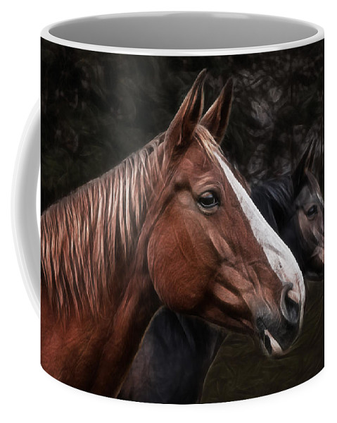 Horse Coffee Mug featuring the photograph Hanoverians by Joachim G Pinkawa