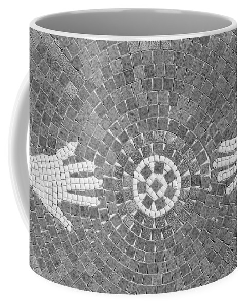 Black And White Coffee Mug featuring the photograph Hans Mosaic by Rob Hans