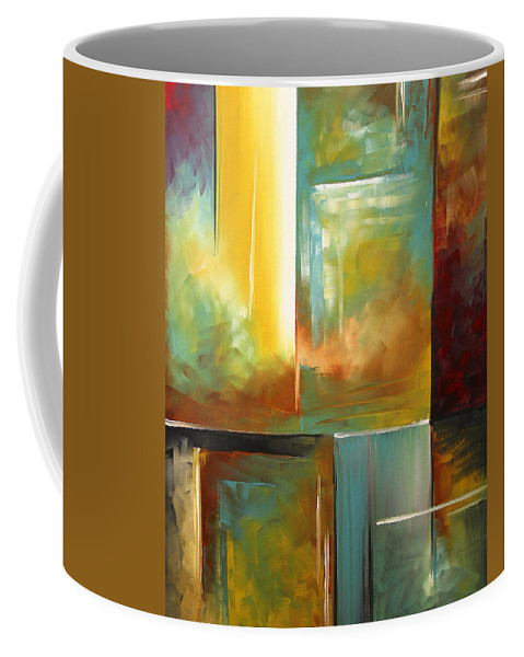 Abstract Coffee Mug featuring the painting Haphazardous II By Madart by Megan Duncanson