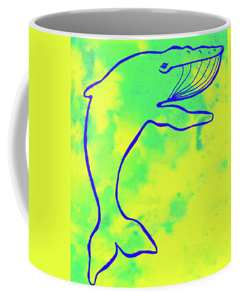 Nautical Coffee Mug featuring the digital art Happier Humpback 1 by Steven Scanlon