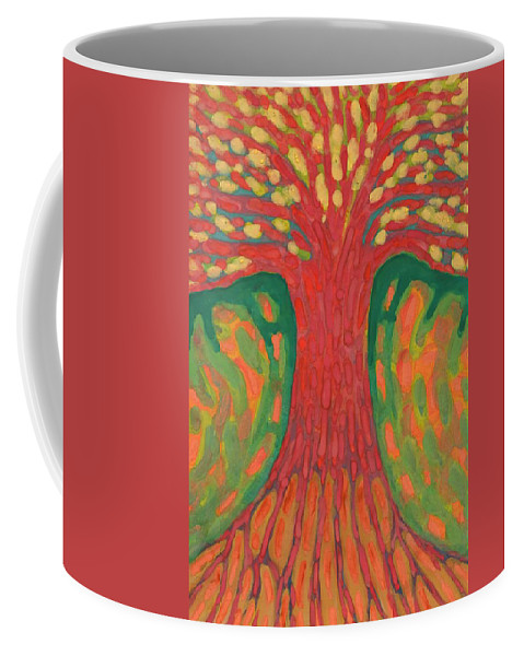 Colour Coffee Mug featuring the painting Happines by Wojtek Kowalski
