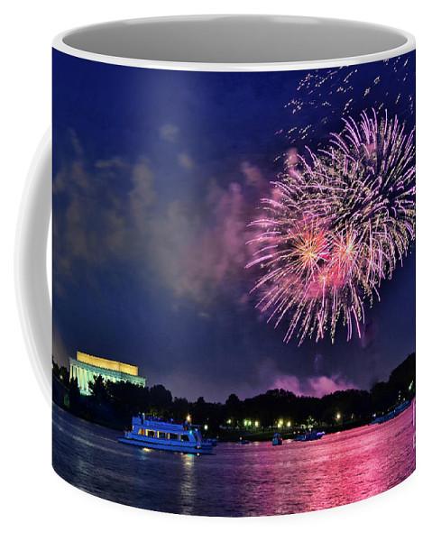 Happy Bithday America Coffee Mug featuring the photograph Happy Birthday America # 2 by Allen Beatty