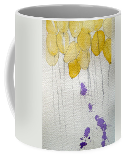 Balloon Celebrate Fun Happy Play Birthday Coffee Mug featuring the painting Happy Birthday Ashleigh by Patricia Caldwell