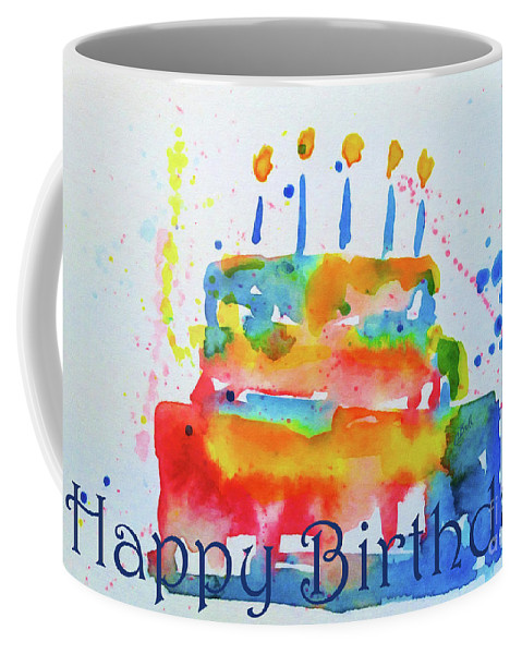 Happy Birthday Blue Cake Coffee Mug For Sale By Claire Bull