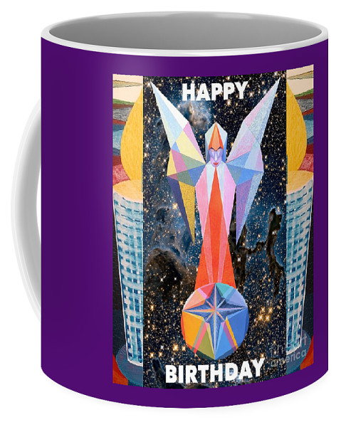Wishes Coffee Mug featuring the painting Happy Birthday- Candle - 1 by Michael Bellon