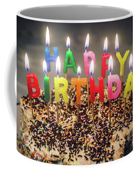 Candles Coffee Mug featuring the photograph Happy Birthday Candles by Carlos Caetano