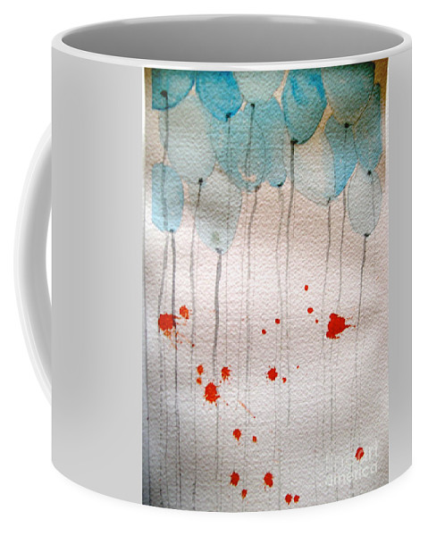 Balloon Celebrate Fun Happy Play Coffee Mug featuring the painting Happy Birthday Katherine by Patricia Caldwell