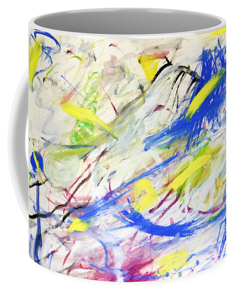Abstract Coffee Mug featuring the painting Happy Chaos by Lee Serenethos