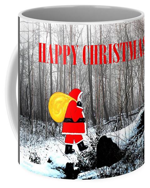 Christmas Coffee Mug featuring the painting Happy Christmas 60 by Patrick J Murphy
