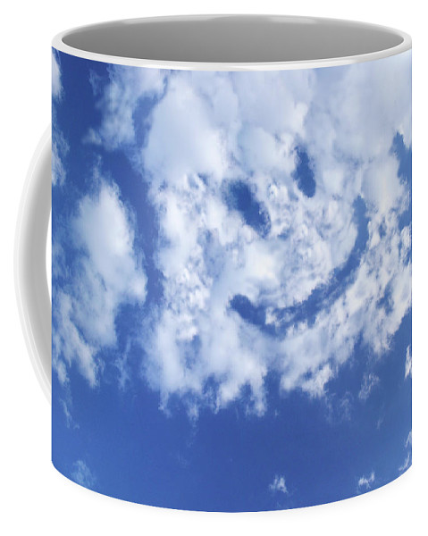 Sky Coffee Mug featuring the photograph Happy Face Sky by Guy Crittenden
