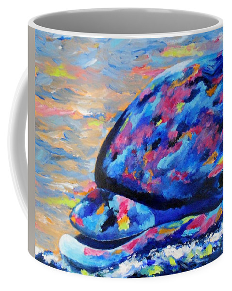 Dolphin Coffee Mug featuring the painting Happy Guy by Jamie Frier