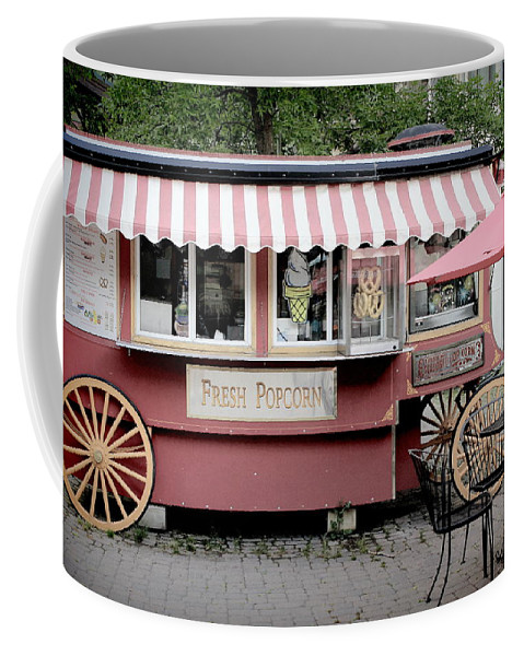 Vail Coffee Mug featuring the photograph Fresh Popcorn Anyone by Fiona Kennard