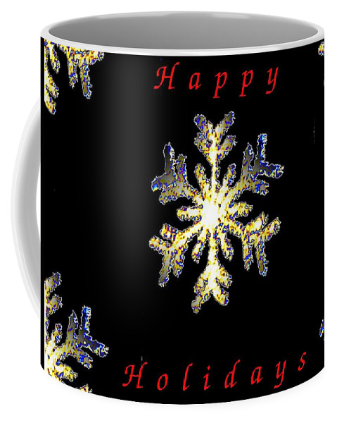 Holiday Coffee Mug featuring the photograph Happy Holiday Snowflakes by Tim Allen