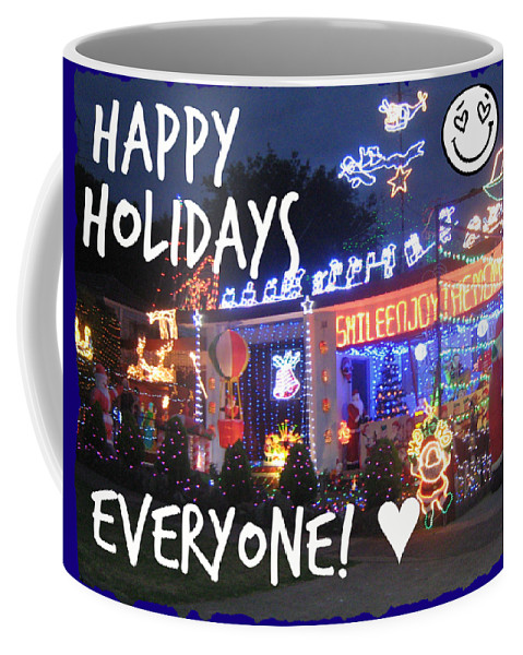 Holidays Coffee Mug featuring the photograph Happy Holidays by Leanne Seymour
