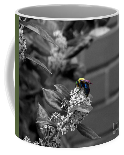 Bee Coffee Mug featuring the photograph Happy Hour by Jai Johnson