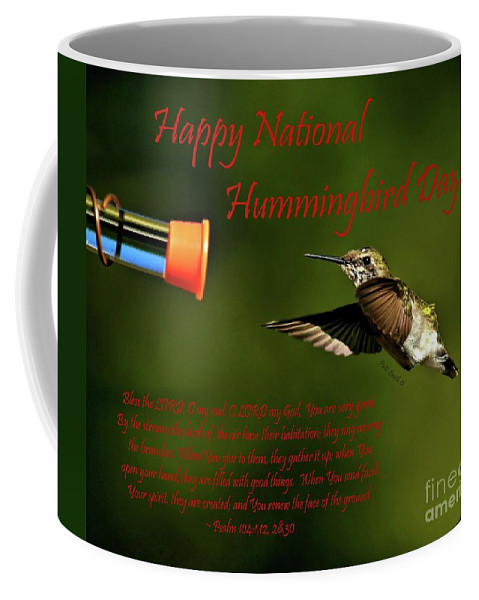 Happy Coffee Mug featuring the photograph Happy Hummer Day by Patti Smith