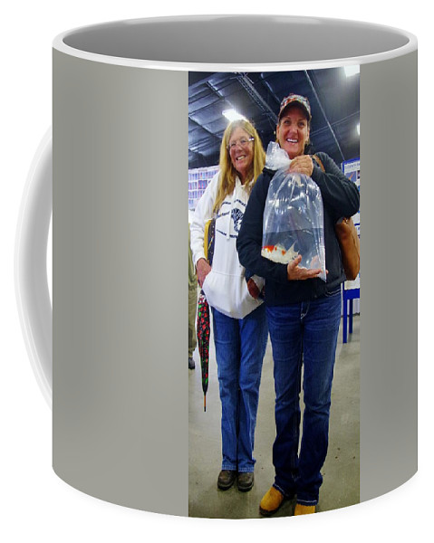 Kcsd Coffee Mug featuring the photograph Happy Koi Buyers by Phyllis Spoor