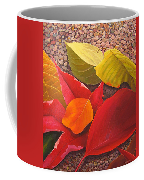Autumn Leaves Coffee Mug featuring the painting Happy Landings by Hunter Jay
