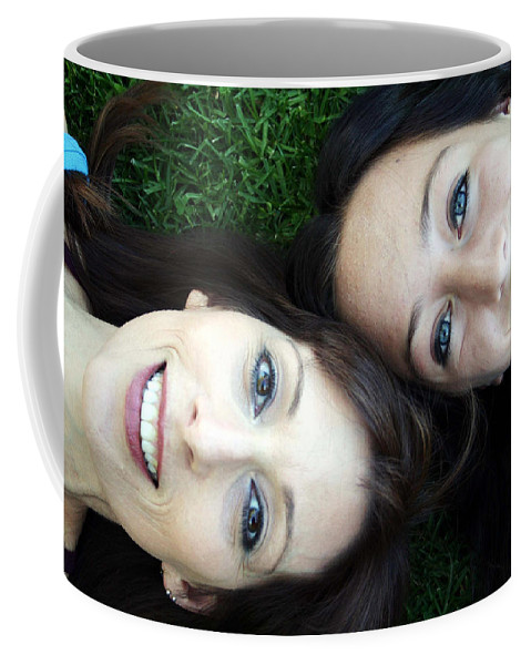Mom Coffee Mug featuring the photograph Happy Mom And Daughter by Linda Woods