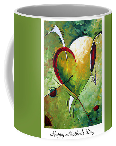Art Coffee Mug featuring the painting Happy Mother's Day By Madart by Megan Duncanson
