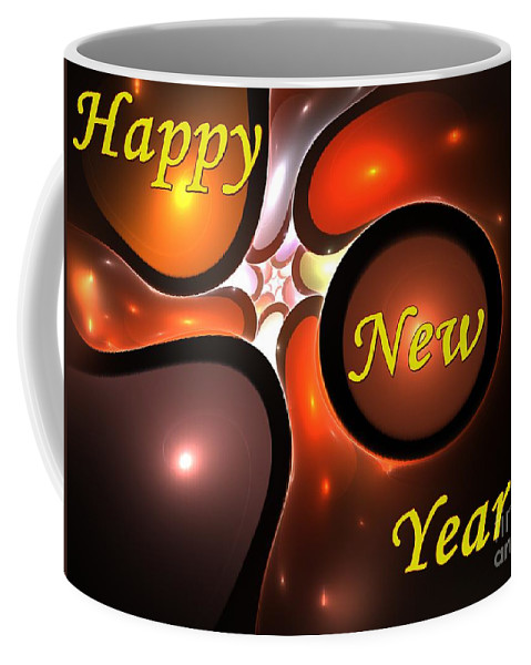 Year Coffee Mug featuring the digital art Happy New Year by Steve K