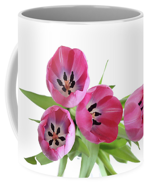 Tulips Coffee Mug featuring the photograph Happy Pink by Marie Leslie