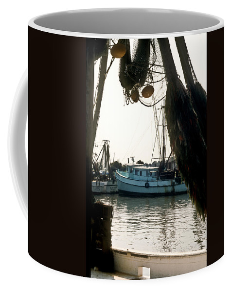 Harbor Coffee Mug featuring the photograph Harbor Boats by Douglas Barnett