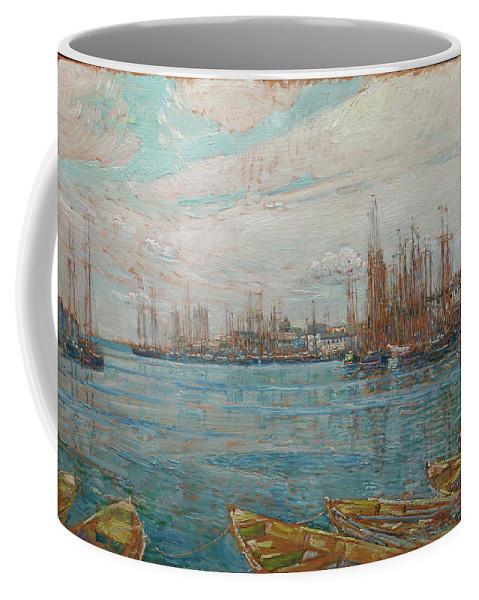 Harbor Of A Thousand Masts Coffee Mug featuring the painting Harbor Of A Thousand Masts by Childe Hassam