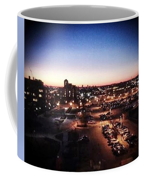 Baltimore Coffee Mug featuring the digital art Harbor Town by Katie Irwin Flather