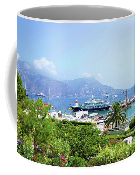 Harbor Coffee Mug featuring the photograph Harbor View- Cote D'azur, France by Jill King