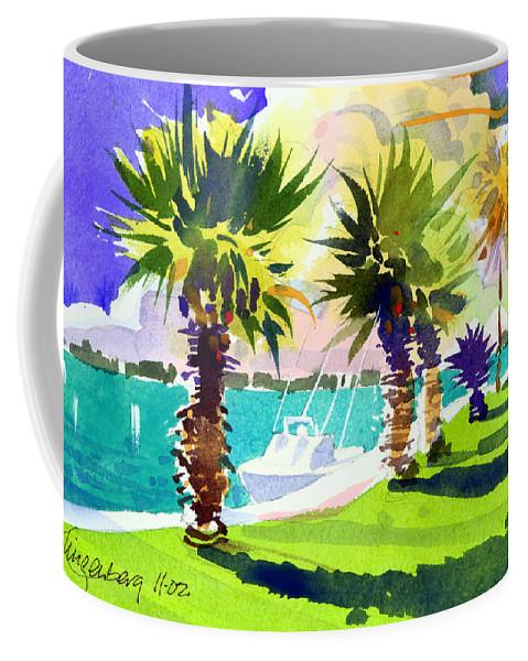 Bermuda Coffee Mug featuring the painting Harbourwalk by Lee Klingenberg