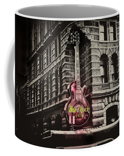 Philadelphia Coffee Mug featuring the photograph Hard Rock Philly by Bill Cannon